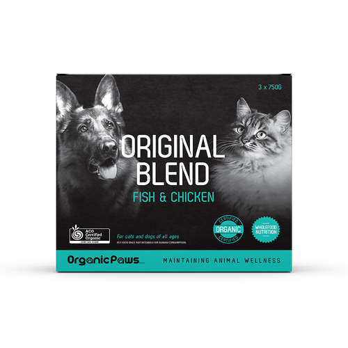 Organic Paws Frozen Raw Original Blend - Fish & Chicken