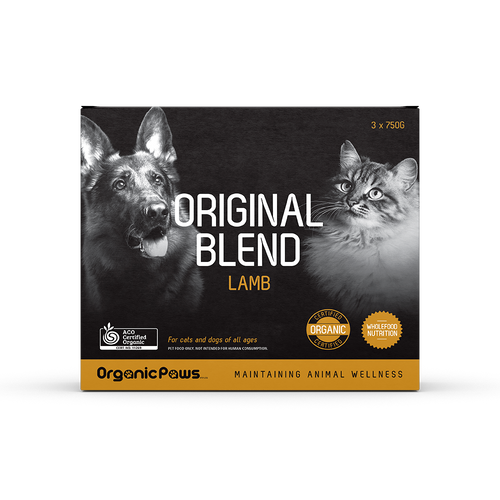 Organic Paws Frozen Raw Original Blend - Lamb