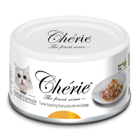 Chérie Hairball Control Cat Food - Tuna Topping Katsuobushi in Gravy 80g