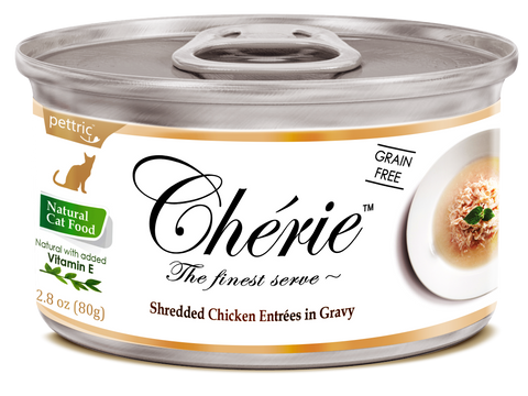 Chérie Signature Gravy Cat Food - Shredded Chicken Entrées in Gravy 80g