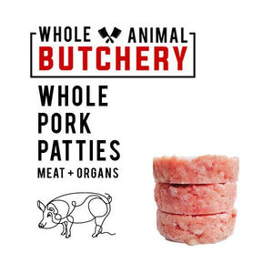 Whole Animal Butchery Frozen Pork Patties