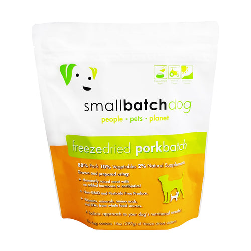 Smallbatch Freeze Dried Pork Sliders for Dogs