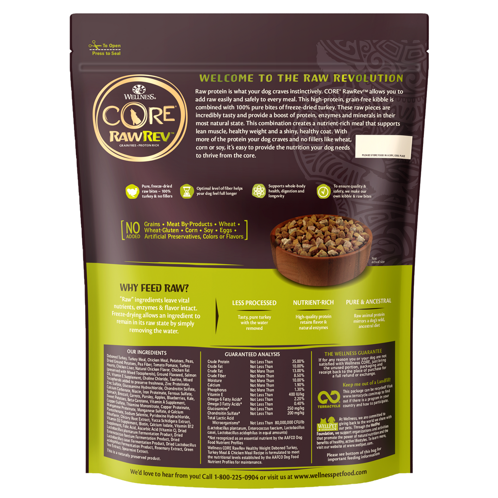 Wellness Core RawRev Healthy Weight for Dogs