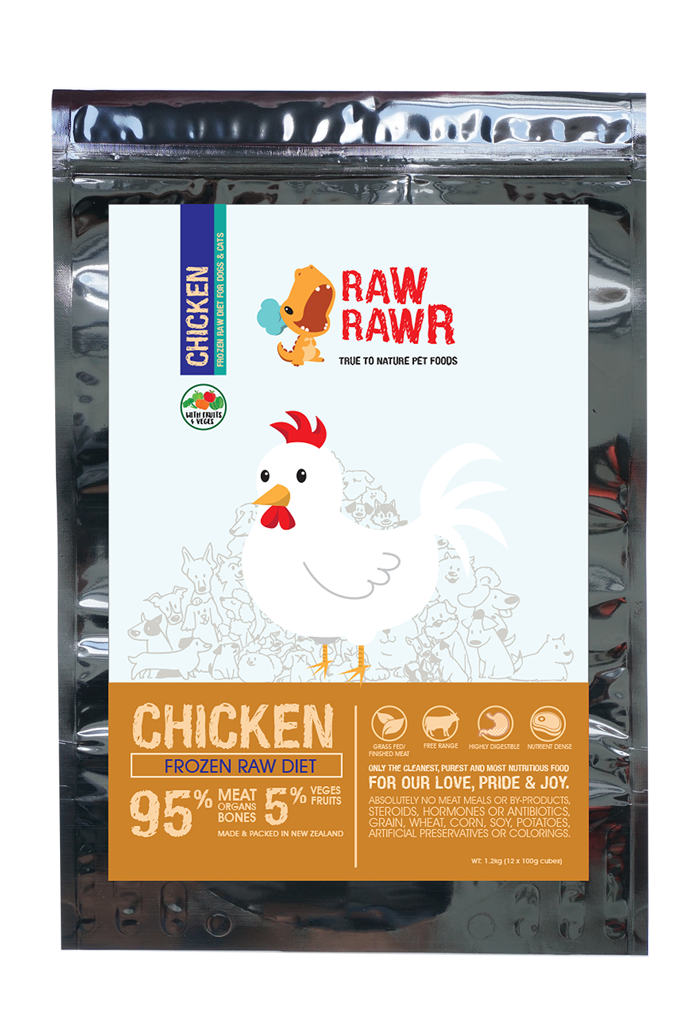 Raw Rawr Frozen Chicken Diet