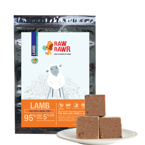 Raw Rawr Frozen Lamb Diet