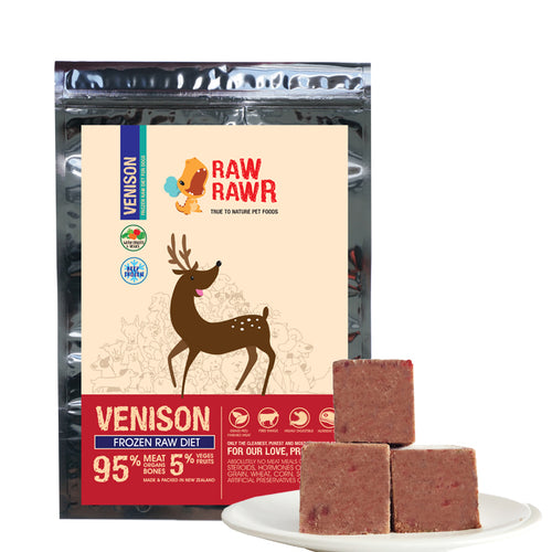 Raw Rawr Frozen Venison Diet