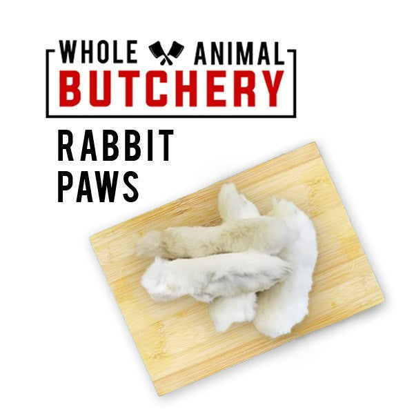 Whole Animal Butchery Frozen Rabbit Paws