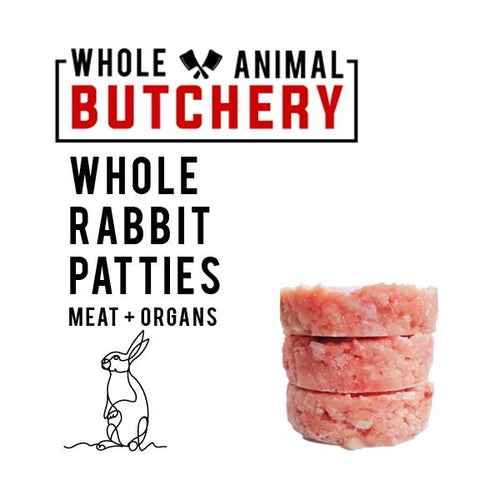 Whole Animal Butchery Frozen Rabbit Patties