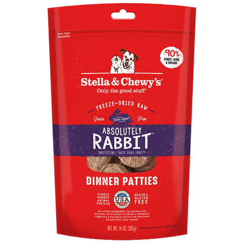 Stella & Chewy's Freeze Dried Absolutely Rabbit Dinner Patties for Dogs