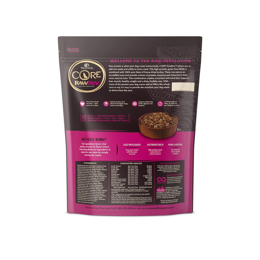 Wellness Core RawRev Small Breed for Dogs