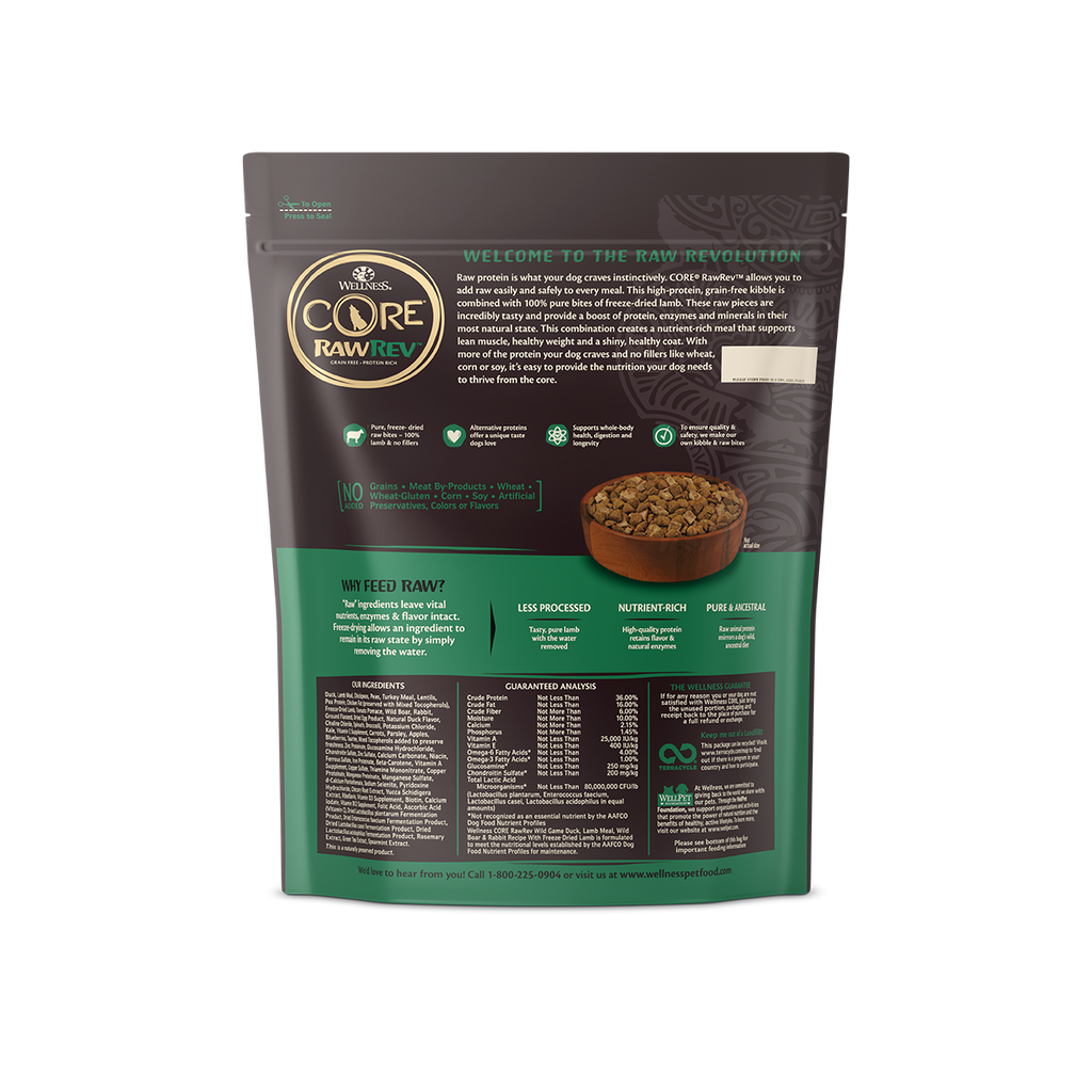 Wellness Core RawRev Wild Game for Dogs