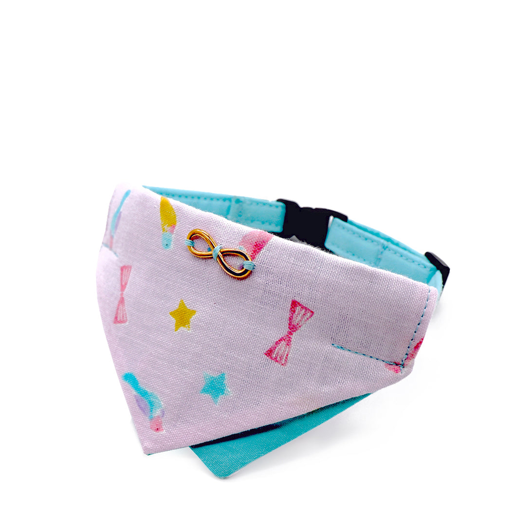Bowtix Dog Collar with Bandana - Summer Lories (Pink)