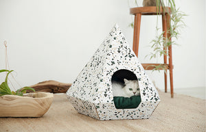 Huts & Bay Cat Diamond - Terrazzo White