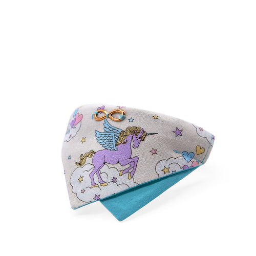 Bowtix Cat Collar with Bandana - Unicorn (Vanilla)