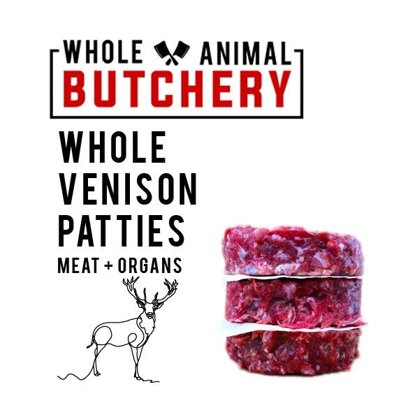 Whole Animal Butchery Frozen Venison Patties