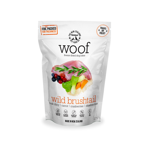 WOOF Freeze Dried Wild Brushtail Treats 50g