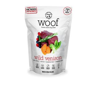 WOOF Freeze Dried Venison Treats 50g