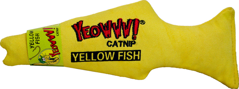 Yeowww! Yellow Fish Catnip Toy