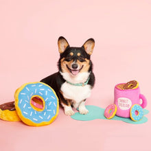 Load image into Gallery viewer, Zippypaws Coffee & Donut Burrow Toy