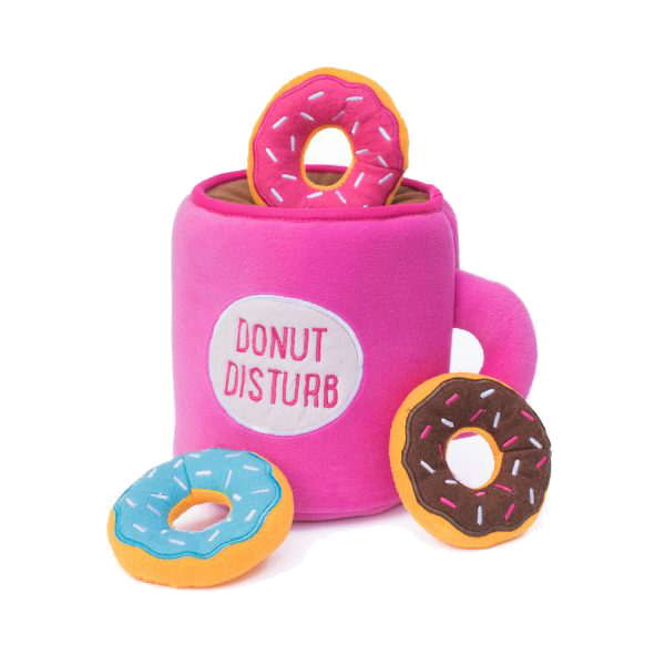 Zippypaws Coffee & Donut Burrow Toy