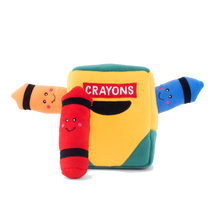 Load image into Gallery viewer, Zippypaws Crayon Box Burrow Toy