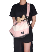 Monchouchou Black Mayonnaise Dog Messenger Bag