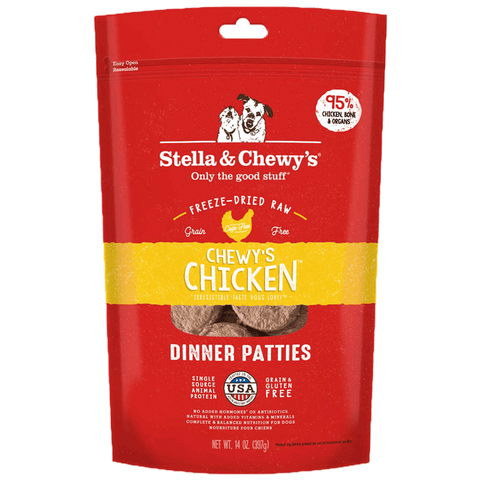 Stella & Chewy's Freeze Dried Chewy's Chicken Dinner Patties for Dogs 25oz