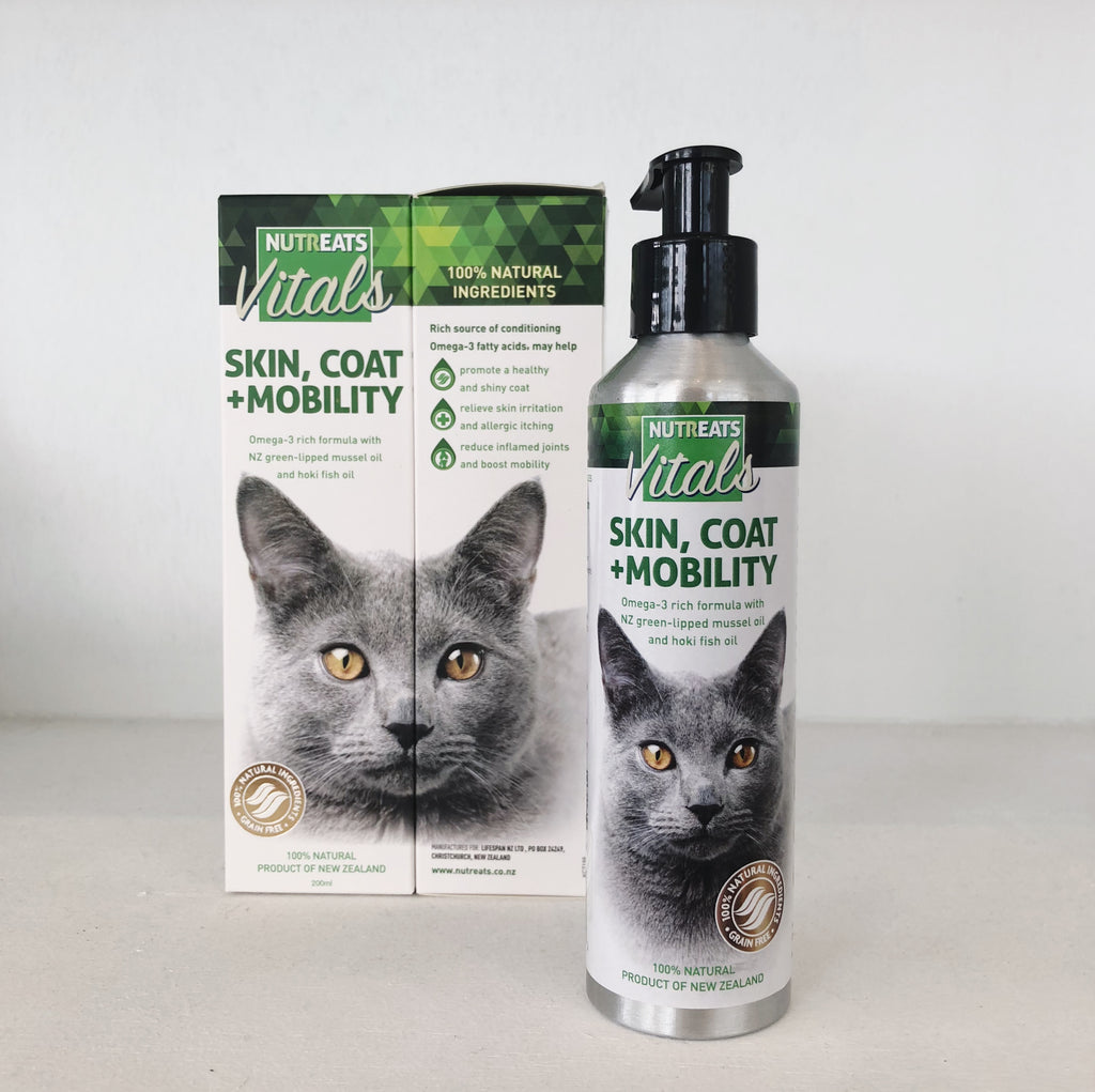 Nutreats Skin Coat & Mobility Oil for Cats