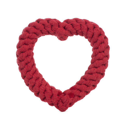 Jax & Bones Rope Toy - Heart