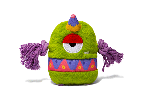 Zee Dog Alien Flex Painted Canvas Dog Toy - Flo
