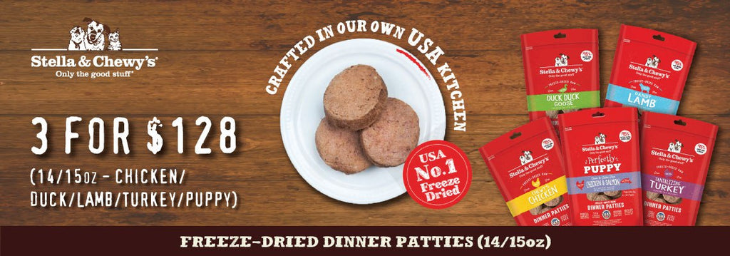 Freeze Dried Dinner Patties for Dogs