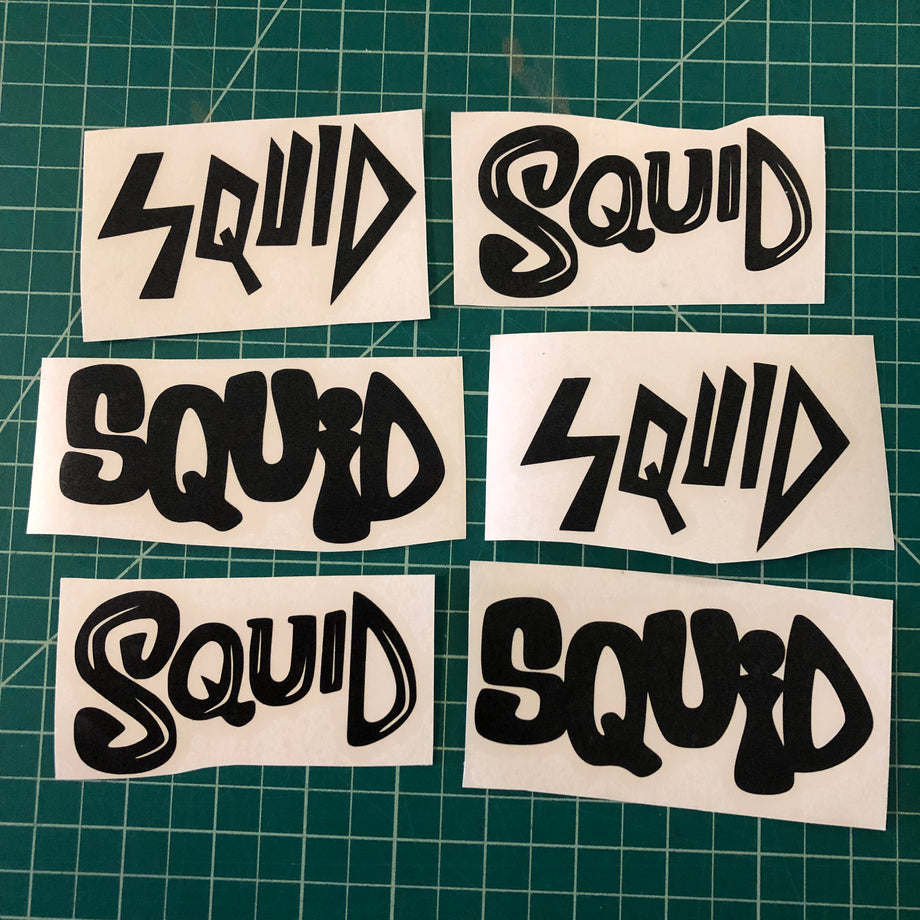 Squid Logo Vinyl Transfer Sticker