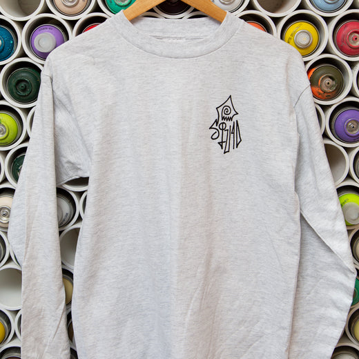 Logo Long Sleeve Shirt - Light Grey