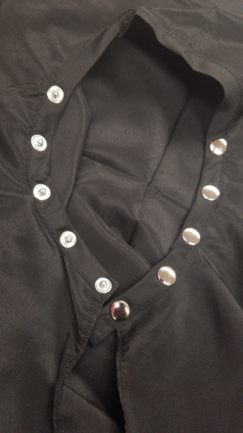 cape, Client Cape, Black cape, snap fastener
