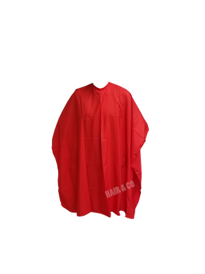 Red cape, cape, salon apparel