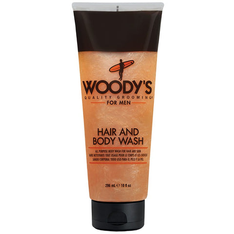 WOODY'S HAIR AND BODY WASH 10 OZ