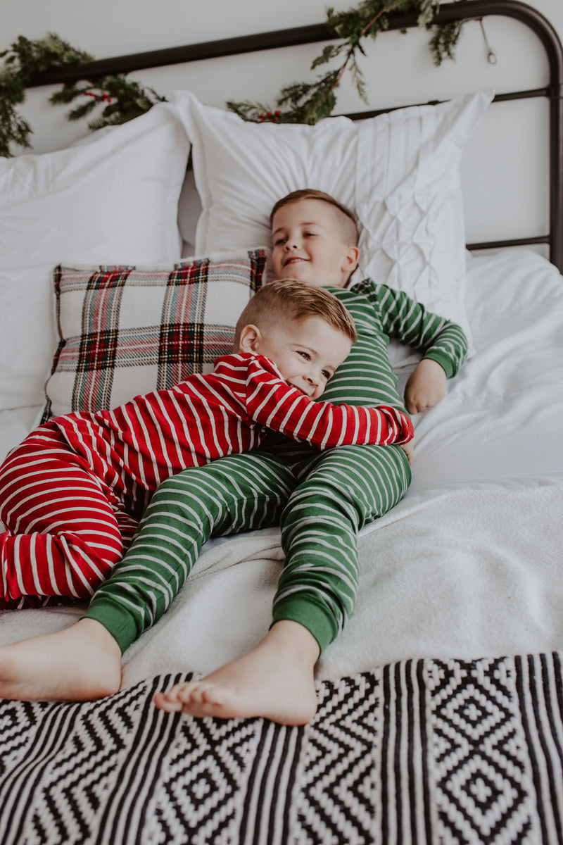 Holiday Striped Pajama Set - 2 Colors