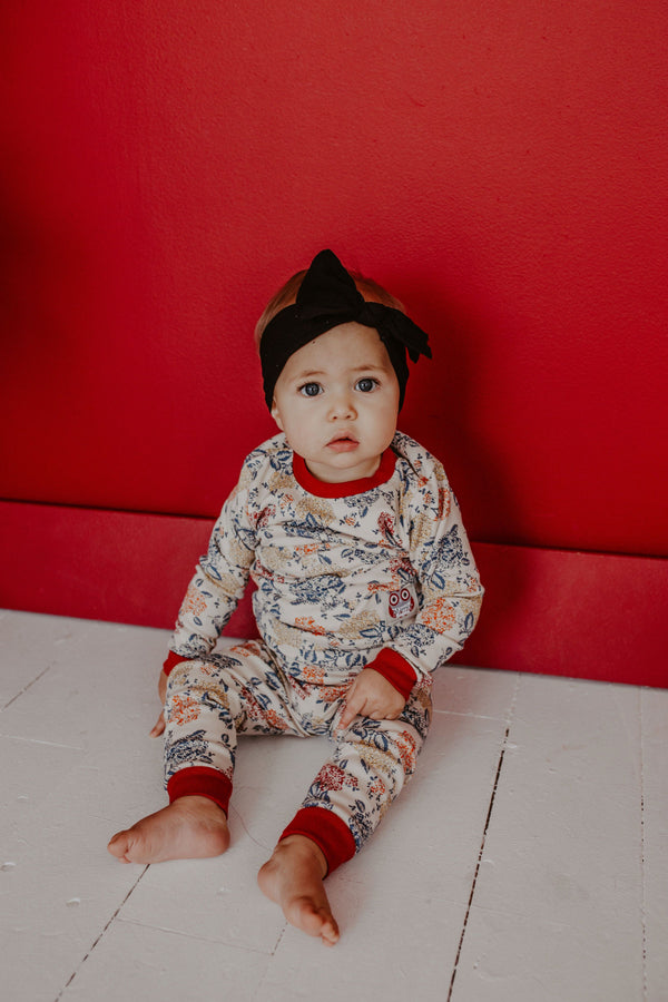 Red Garden Pajama Set