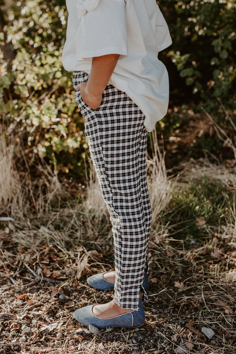 Mini Get 'Em Gingham Pants
