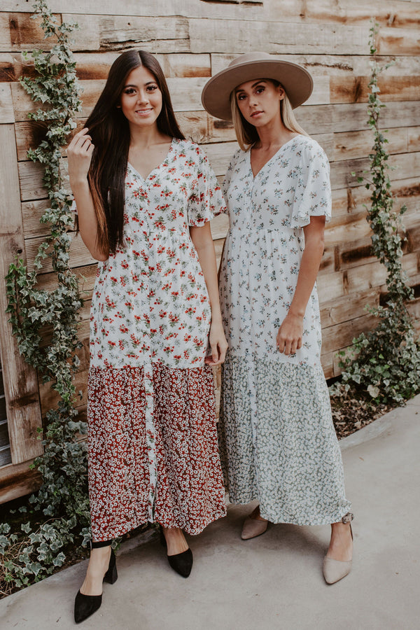 Magnolia Floral Dress - 2 Colors