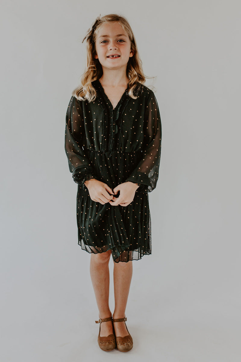 Quinn Dress in Forest Green