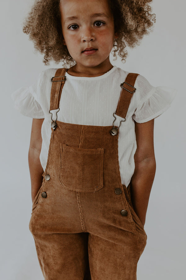 Bailey Overalls in Camel