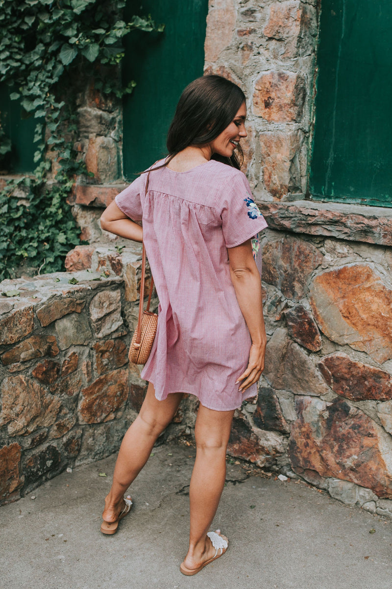 Louisa Embroidered Dress