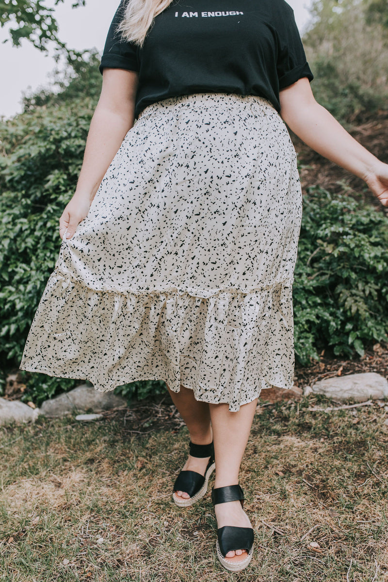 PLUS SIZE - Fill In The Blanks Skirt