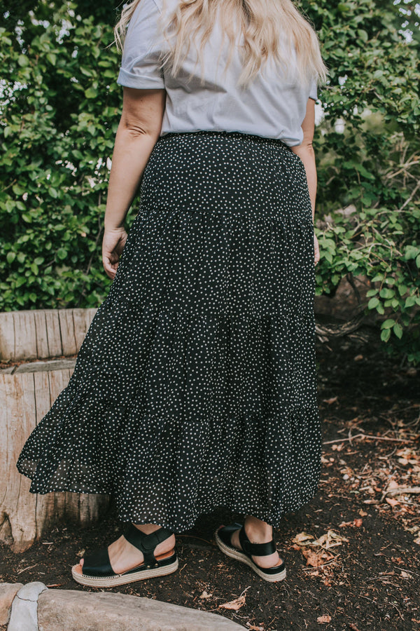 PLUS SIZE - Lowell Dot Skirt