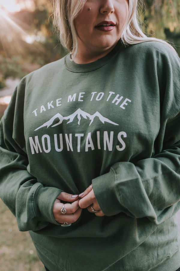 PLUS SIZE - Take Me To The Mountains Pullover