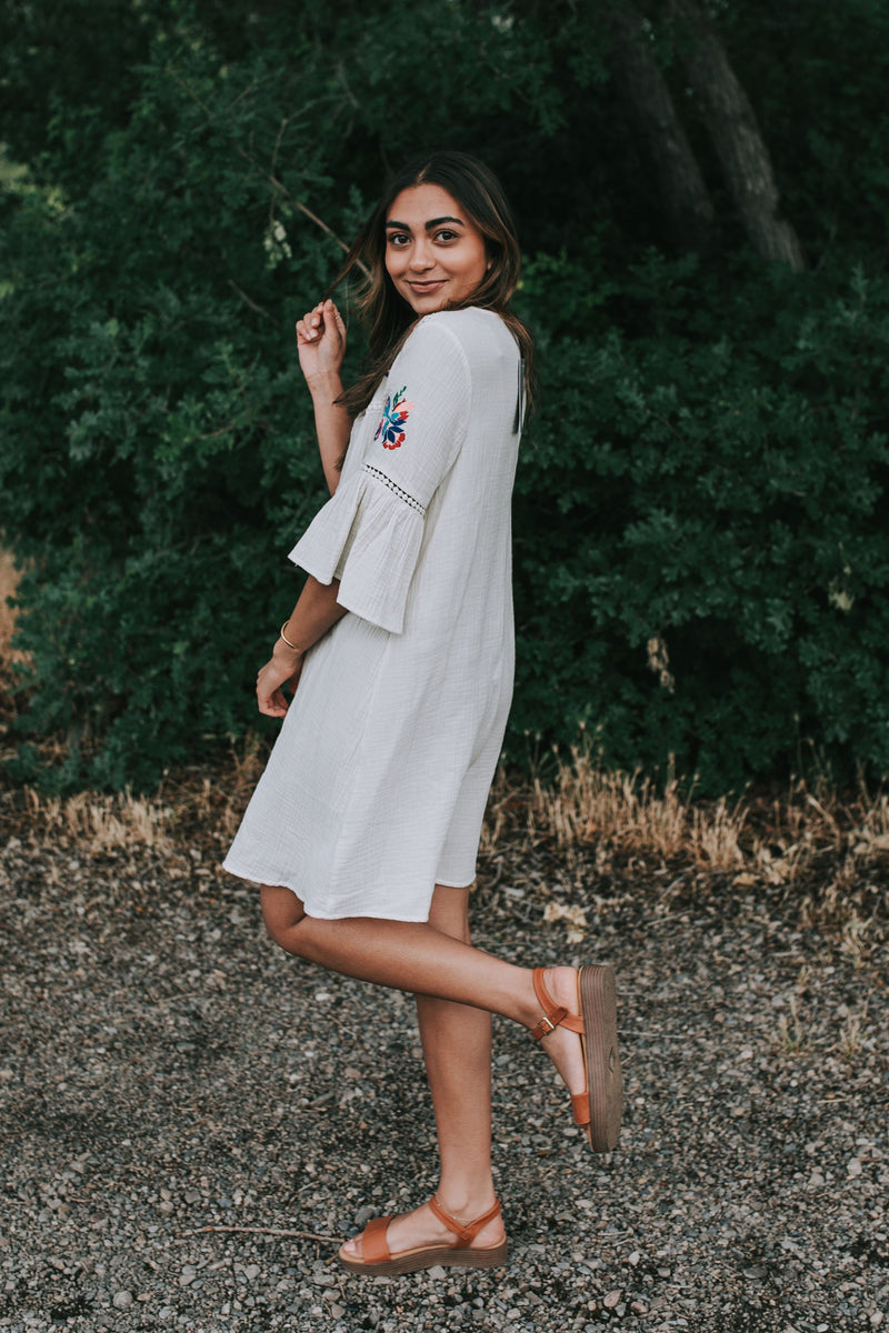 Fenway Embroidered Dress
