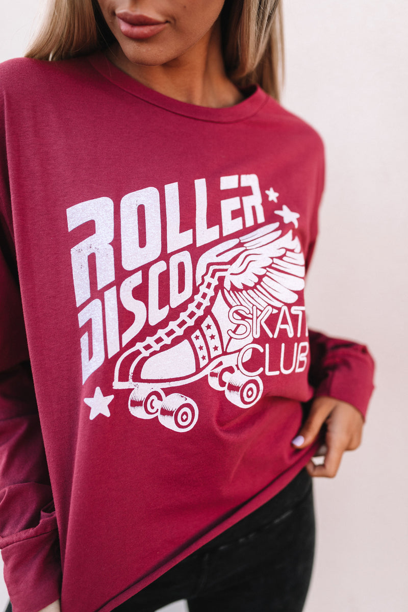 Roller Disco Crop Top