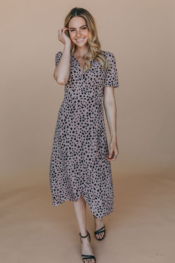 Spot On Wrap Dress