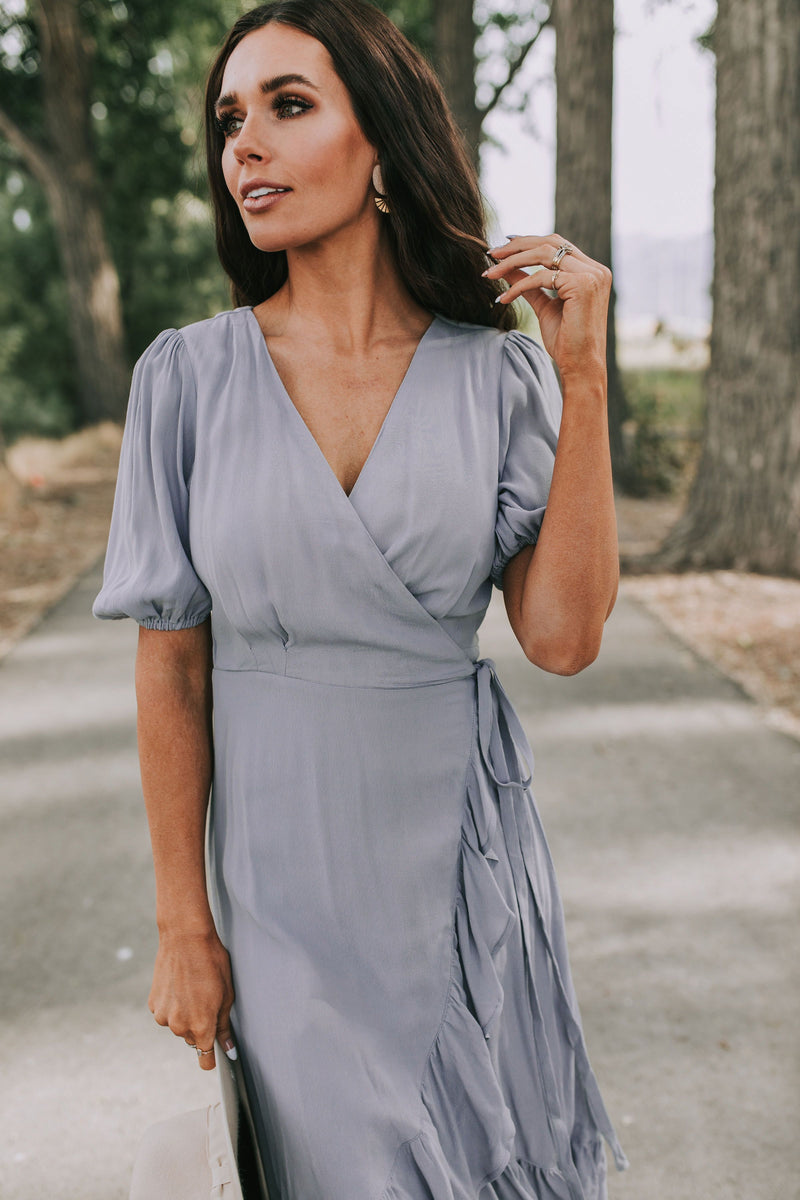 Dancing in the Rain Wrap Dress